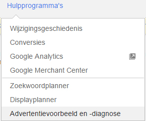 Eigen adwords advertentie zoeken in google 2