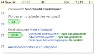 Eigen adwords advertentie zoeken in google